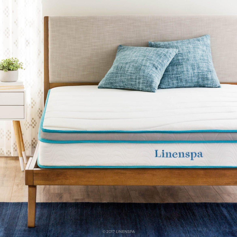 """Linenspa 8"""" Mattress - Best Mattresses for Stomach Sleeping"""