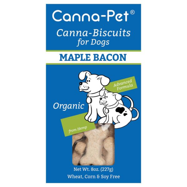 Canna-Pet biscuits maple bacon flavor
