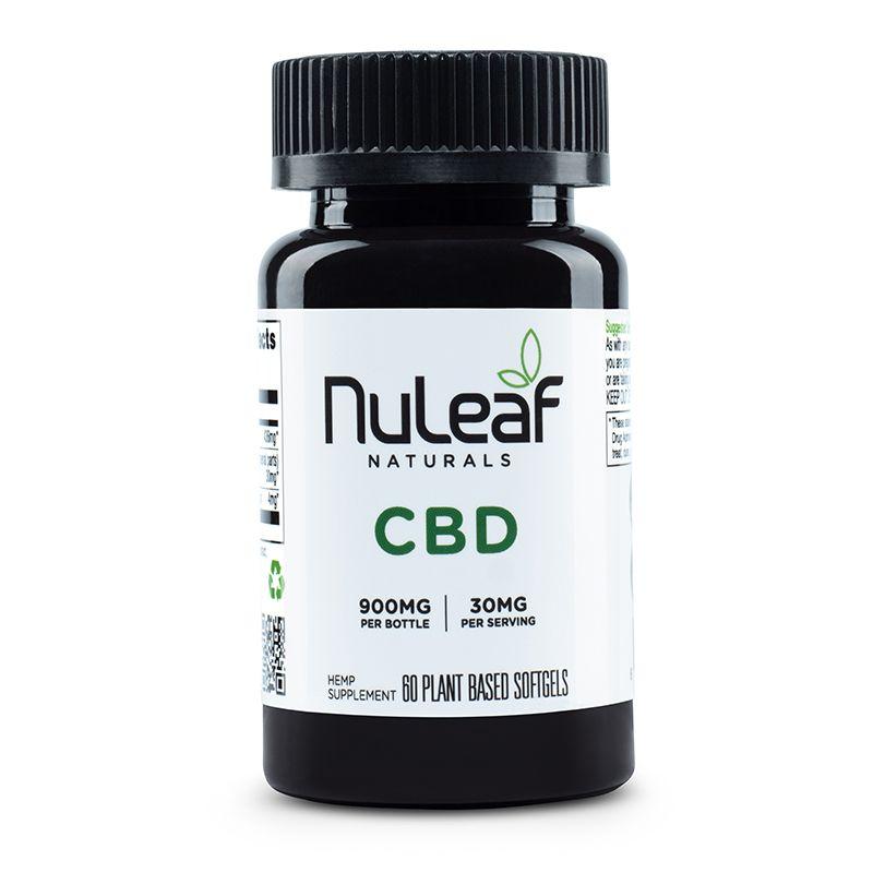 NuLeaf Naturals 900 mg capsules, best CBD oil